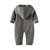 Image of Benjamin Grey Hooded Sweater Romper