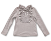 Image of Kelli Ruffles + Bow Long Sleeve Top - Grey