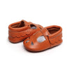 Image of Jessica Teardrop + Scallop Genuine Leather Soft Sole Shoes - Rust