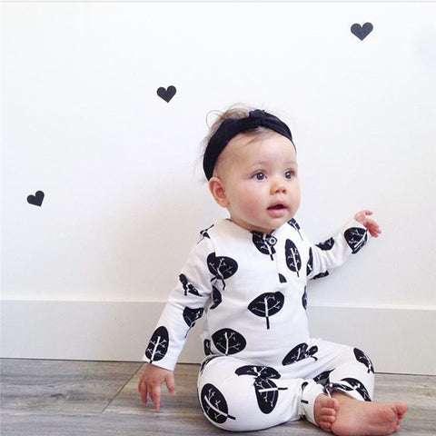 Andrew White + Black Leaf Romper