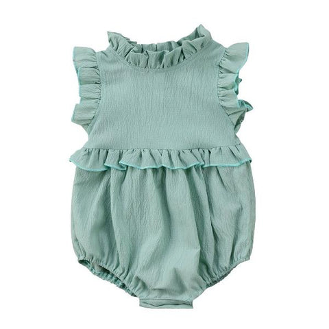 Addie Ruffles Sleeveless Romper - Various Colors
