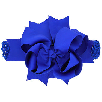 Elise Jumbo Elastic Headband Bow - Various Colors