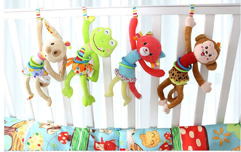 BABY SOFT Animal Crib Toy - Various Colors
