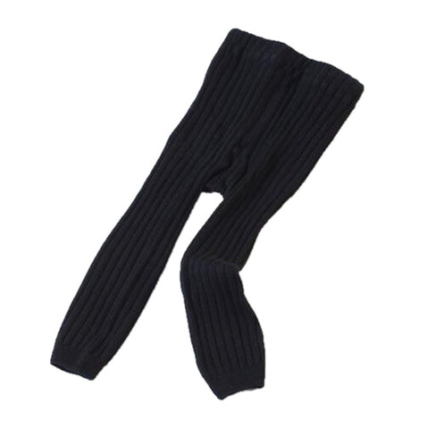 Averly Ribbed Winter Leggings - Black