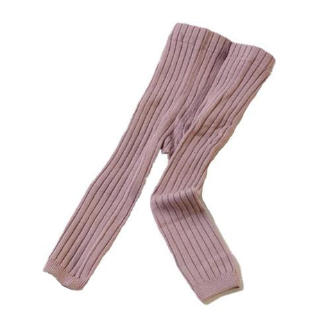 Averly Ribbed Winter Leggings - Dusty Rose