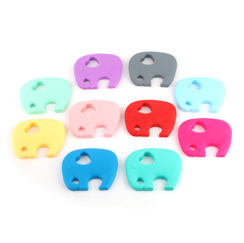Soft Silicone Elephant Teethers - Various Colors