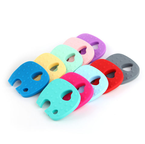BPA-Free Soft Silicone Elephant Teethers - Various Colors