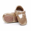 Image of Finley Genuine Leather T-Bar Rubber Sole Walkers - Gold