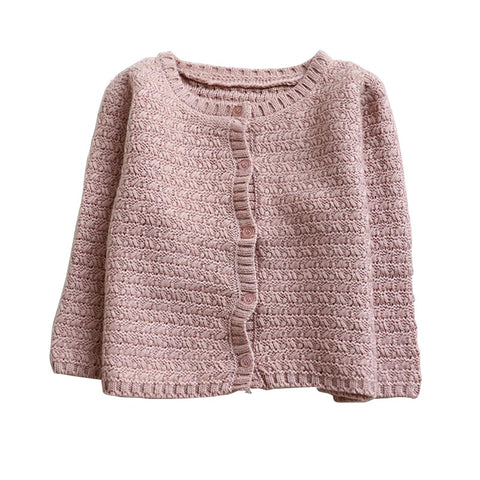 Naomi Knitted Cardigan Sweater - Dusty Rose