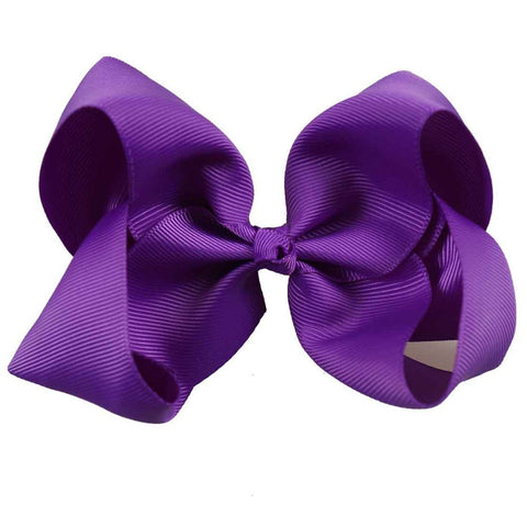 "Ava 5"" Solid Color Ribbon Bow with Clip - Various Colors"