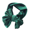 Image of Reagan Velvet Headband Bow - Emerald Green