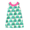 Image of Peyton Aqua Peacocks Sleeveless Summer Dress