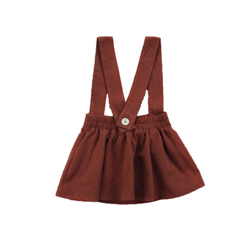 Kamryn Rust Overalls Dress