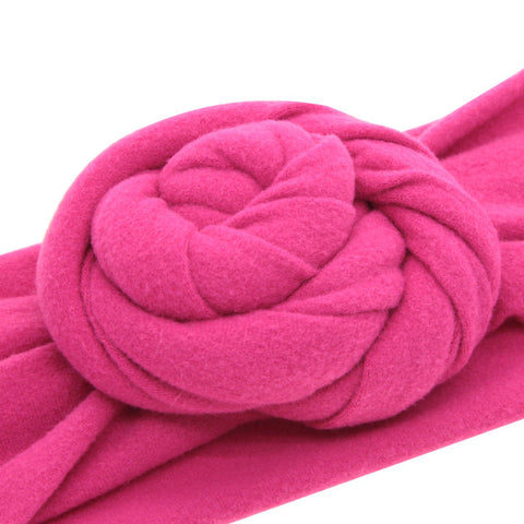 Juliette Twisted Top Knot Cotton Headband - Various Colors