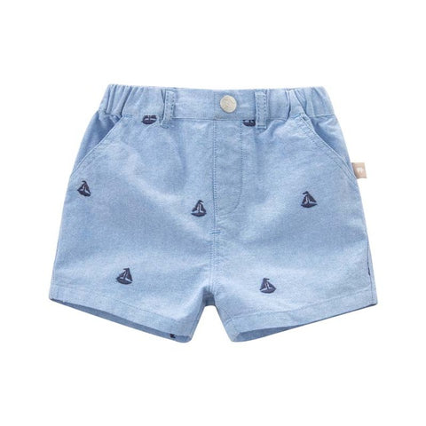 Richard Blue + Navy Sailboat Shorts