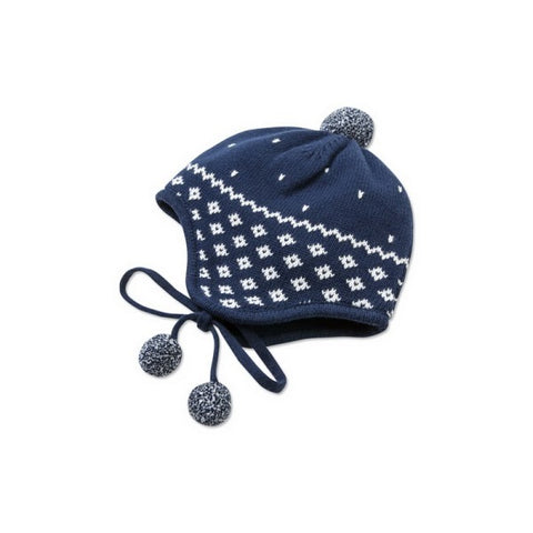 Daniel Navy Winter Pom Pom Hat