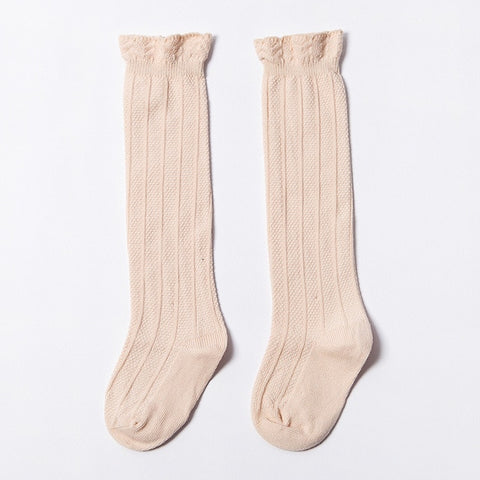 Tiffany Cotton Knee High Socks - Various Colors