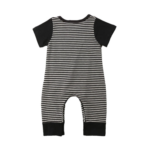 Jeffery Black + White Stripe Romper