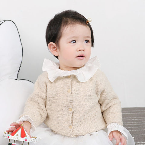 Naomi Knitted Cardigan Sweater - Cream