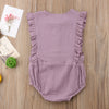 Image of Mackenzie Sleeveless Ruffle Romper - Soft Plum