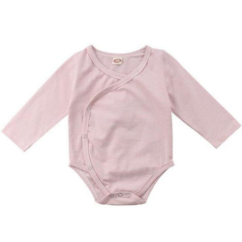 Georgia Striped Onesie - Pink