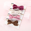 Image of Laurel Velvet Bow Nylon Headbands - Various Colors