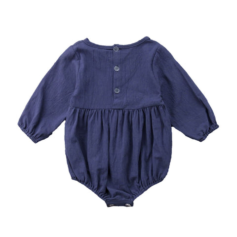 Natalina Navy Long Sleeve Romper