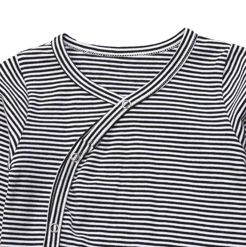 Ross Striped Long Sleeve Onesie 2-piece Outfit