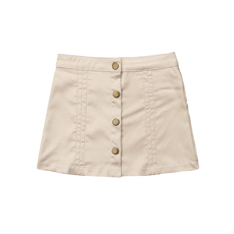 Rachael Snap Front Skirt - Cream