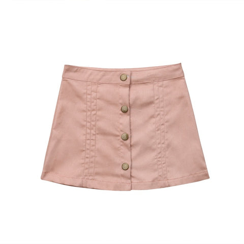 Rachael Snap Front Skirt - Dusty Rose