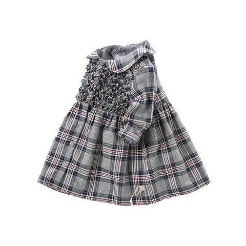 Alexa Grey Plaid Dress