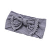 Image of Alicia Nylon Pom Pom Headband - Grey