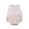 Image of Carly Lace + Bows Sleeveless Romper - Pink