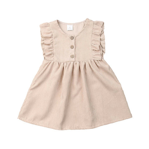 Ashlee Corduroy Ruffle Sleeve Dress
