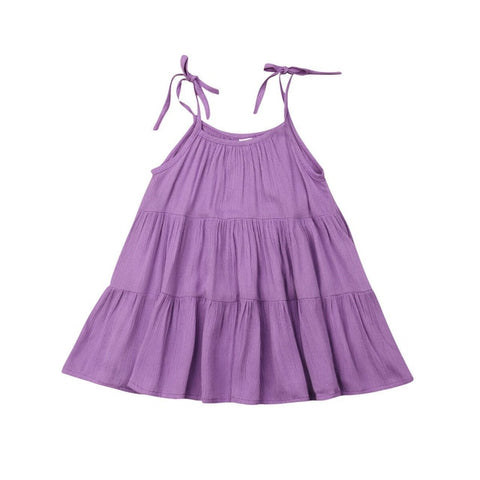 Leah Spaghetti Strap Swing Dress - Purple