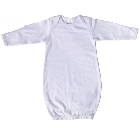Baby Basics White Infant Sleep Gown