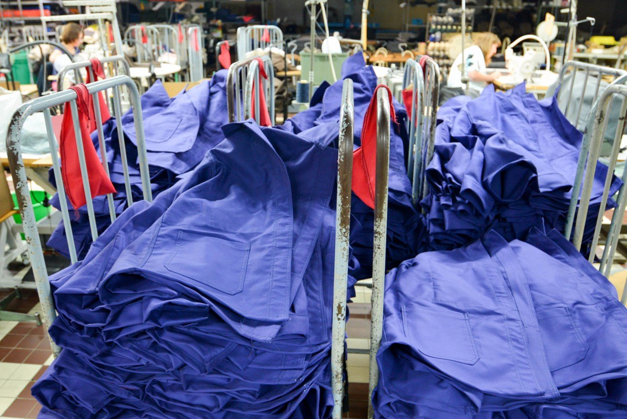 Le Laboureur Jackets being made