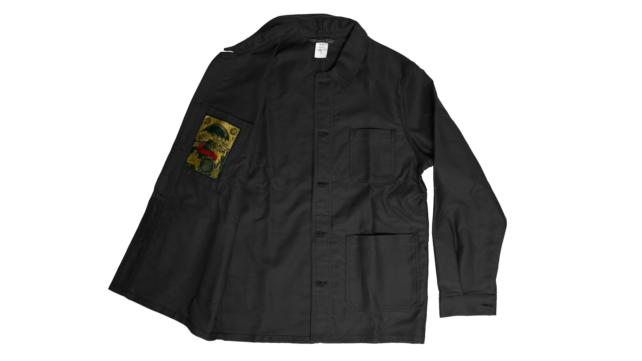 Le Laboureur Moleskin Work Jacket | Black Work Jacket Le Laboureur