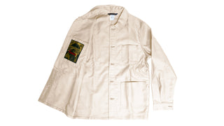 Le Laboureur Moleskin Work Jacket | Ecru Work Jacket Le Laboureur