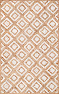 ROSALVA DIAMONDS JUTE RUG