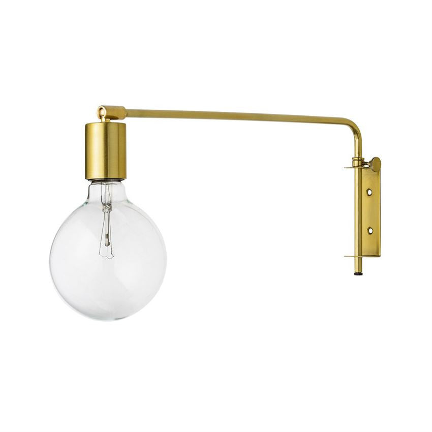 GOLD METAL WALL LAMP