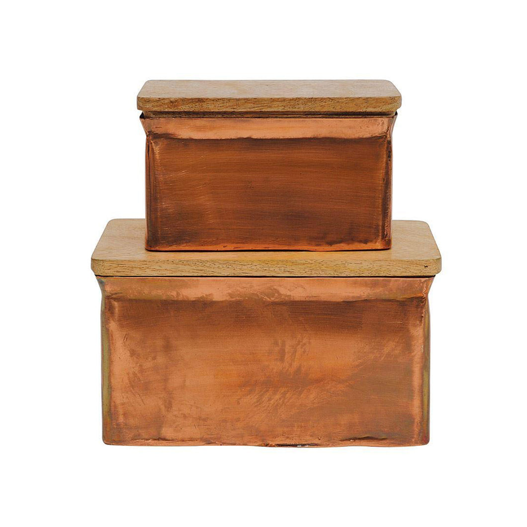 CLAY BOXES, set of 2