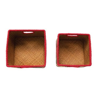 Genet Trimmed Seagrass Baskets