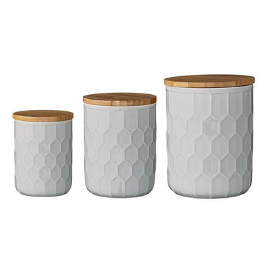HOLLAND WHITE CANISTERS, set of 3