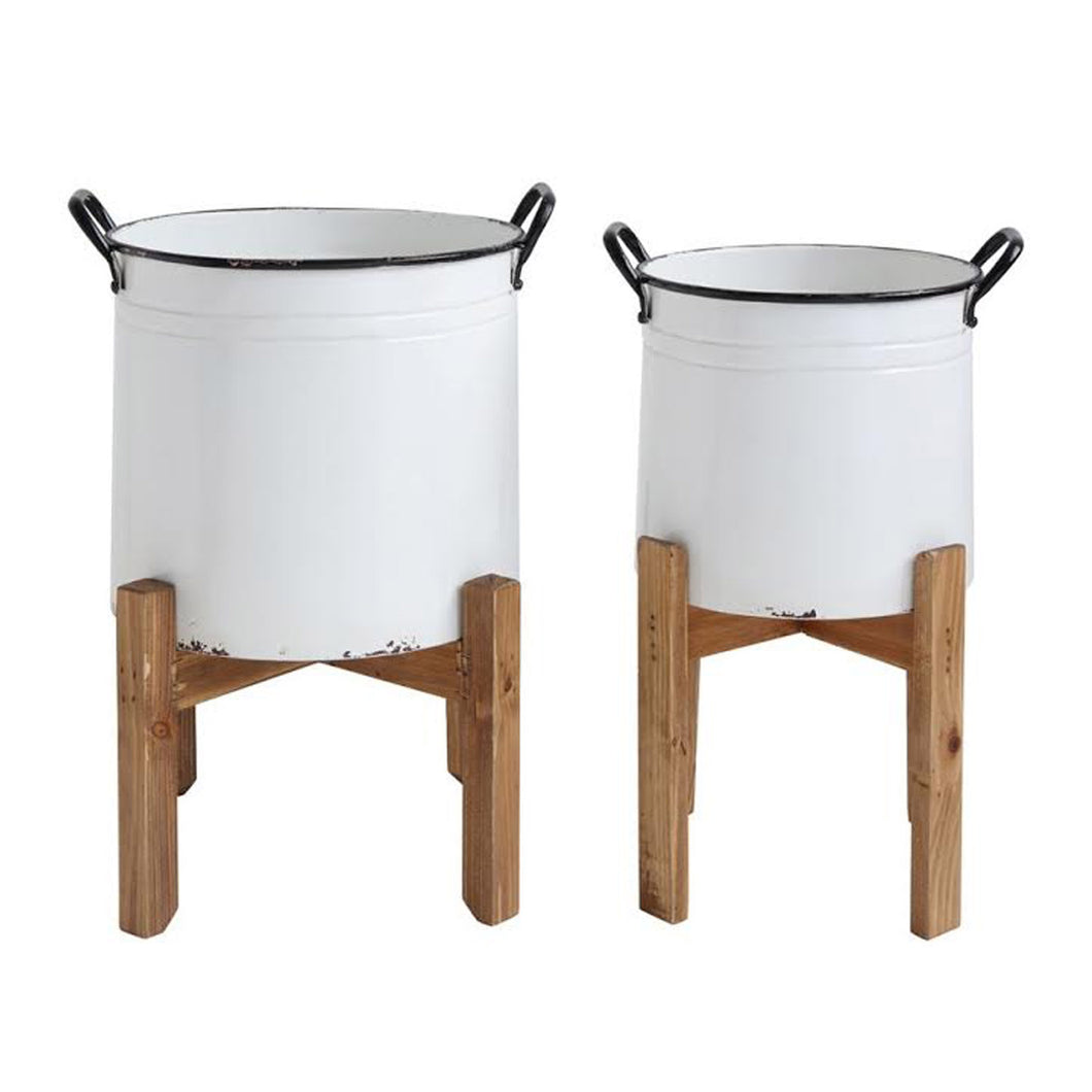 HIGGINS POTS, set of 2