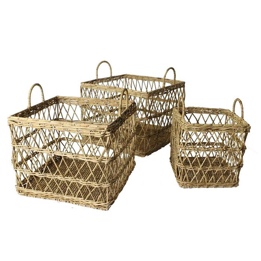 GARDEN GLEN BASKETS, set of 3