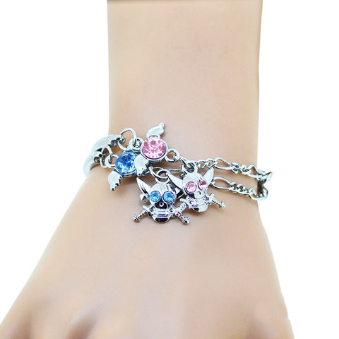 The Latest  Popular Fashion Romantic Skeleton Lovers Alloy Bracelet   2 Pieces/Pack