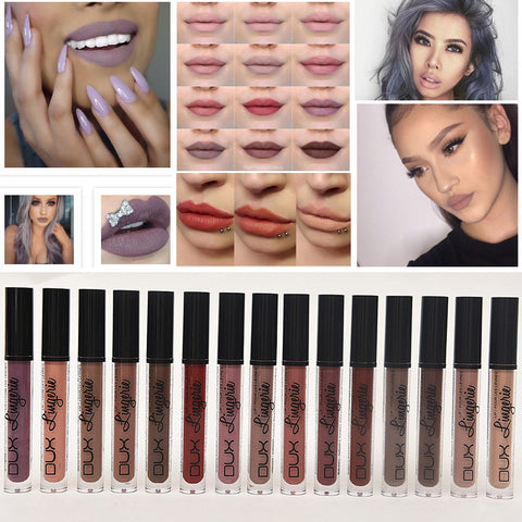 Fashion Brand Metallic Makeup Waterproof Liquid Matte Lipstick Long Lasting Lip Gloss Makeup Cosmetics 15 Colors For Girls Women
