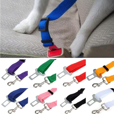 Colors Cat Dog Car Safety Seat Belt Harness Adjustable Pet Puppy Pup Hound Vehicle Seatbelt Lead Leash for Dogs Drop Shipping