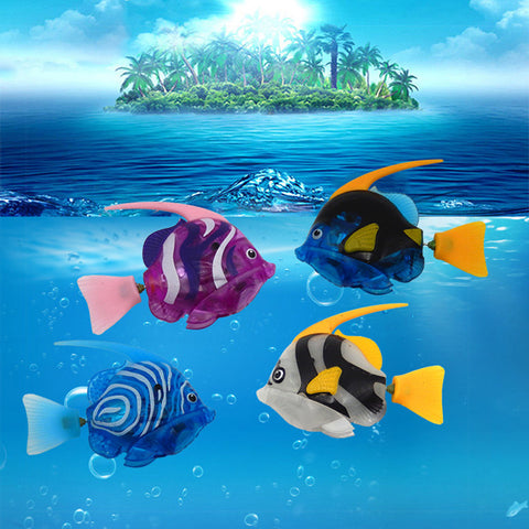 1pcs Luminous Electric Fish Robots Swimming Electronic Energy Ornamental Fish For Aquarium Decoration CSV Dropshipping Wholesale